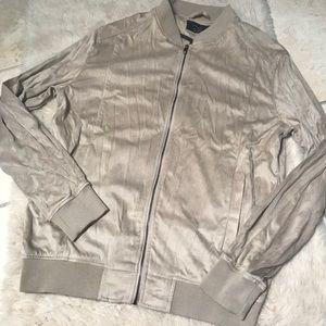 Zara Man Faux Suede Zip Up Jacket
